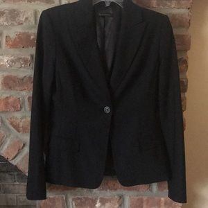 Elie Tahari Black One Button Blazer Jacket Sz 8